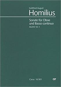 Homilius, Gottfreif August: Sonata in F (Oboe & Piano)