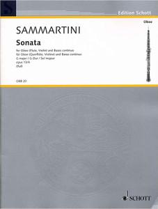 Giovanni Battista Sammartini: Sonata In G Op. 13. No.4 Ob/Piano