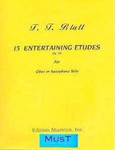 Blatt, Franz Thaddäus: 15 Entertaining Etudes Op. 24 for Oboe