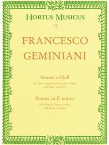 Francesco Geminiani: Sonata in E minor for oboe & basso continuo
