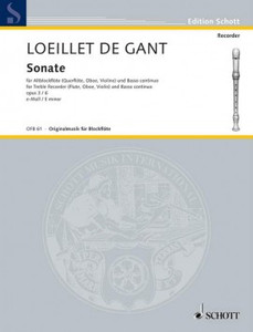 Loeillet de Gant, Jean Baptiste: Sonata No. 1 in E minor op. 5