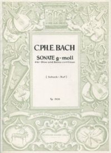 Bach, Carl Philipp Emanuel: Sonata in G minor for oboe & bass continuo