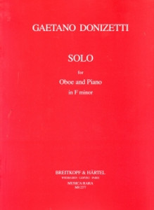 Gaetano Donizetti: Solo For Oboe & Piano