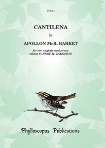 Barret, Apollon Marie-Rose: Cantilena for cor anglais & piano