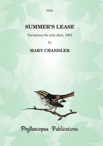 Chandler, M: Summer's Lease – Variations for solo oboe
