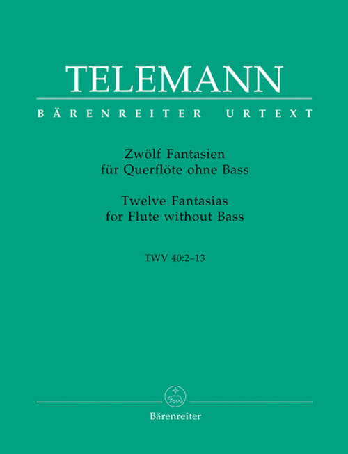 Georg Philipp Telemann: 12 Fantasias for Flute
