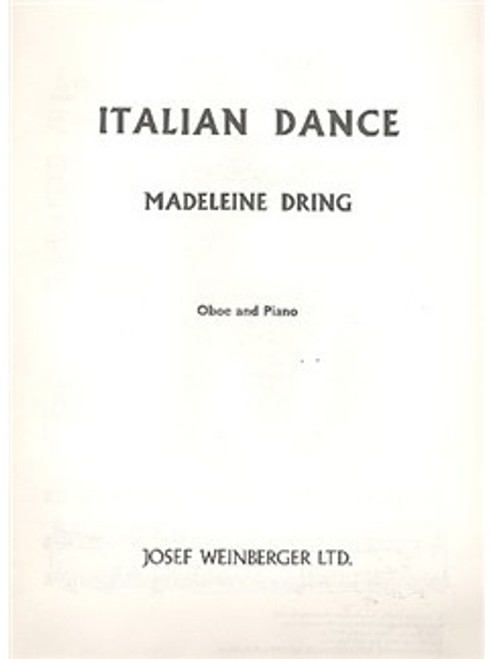 Dring, Madeleine: Italian Dance for oboe & piano