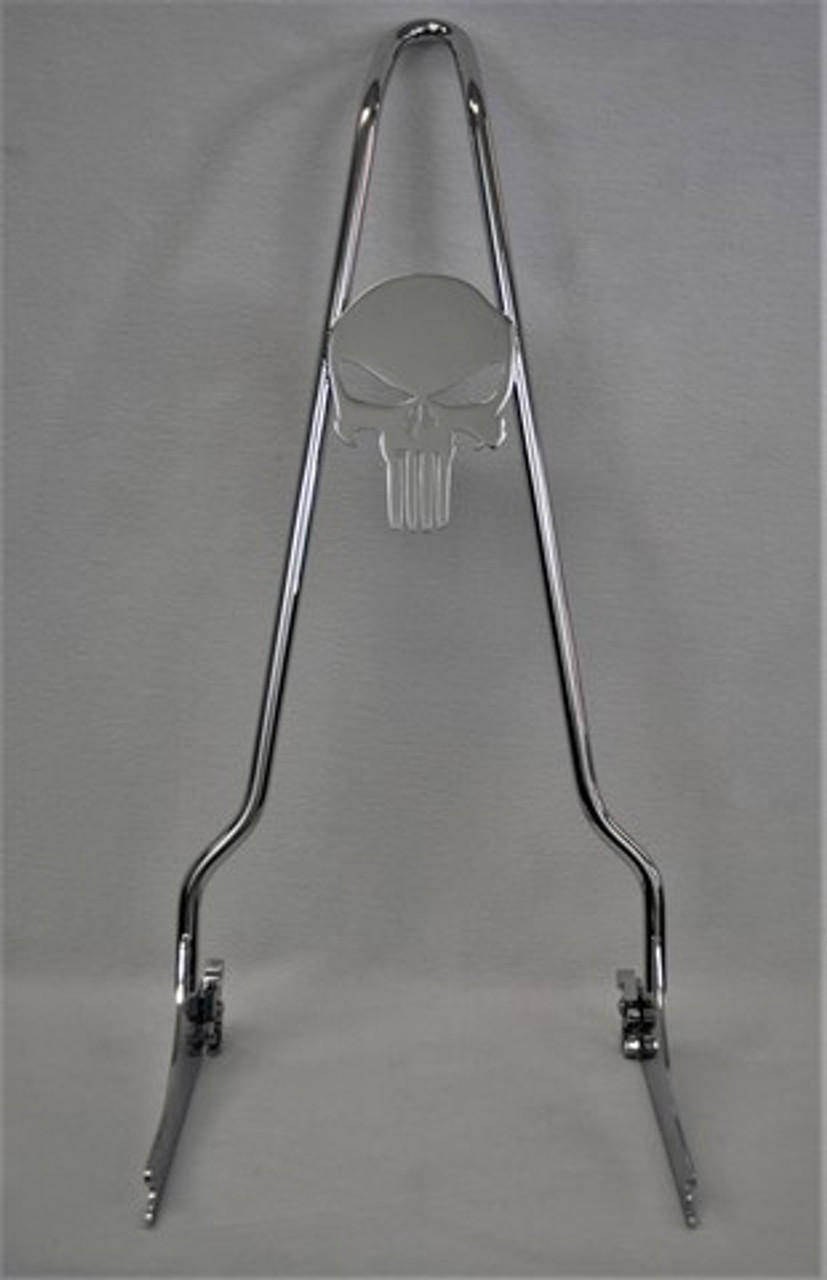 """CHROME 2006-2017 Dyna Quick Release PUNISHER Sissy Bar - 24"""""""