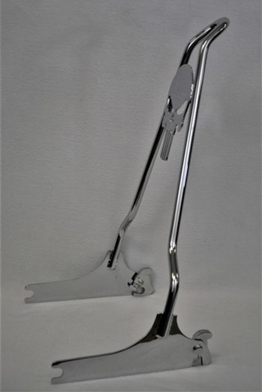 """CHROME 2013-2017 Breakout Quick Release PUNISHER Sissy Bar - 18"""""""