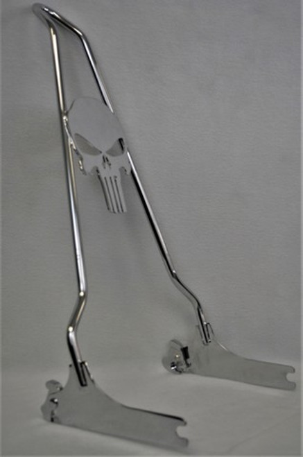 """CHROME 2013-2017 Breakout Quick Release PUNISHER Sissy Bar- 24"""""""