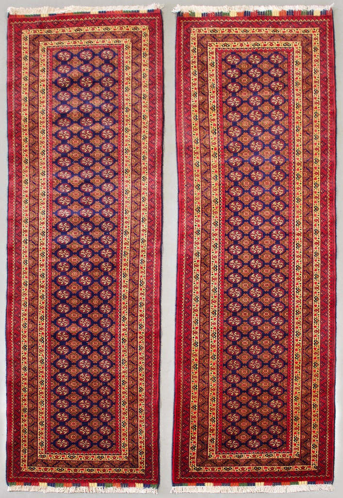 Matching Pair of Khoja Roshnai Fine Tribal Runners (Ref 350) 290x80cm