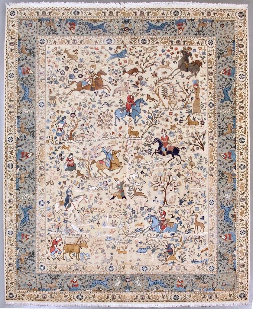 Hunting Design Fine Agra Persian Rug (Ref 12) 300x240cm
