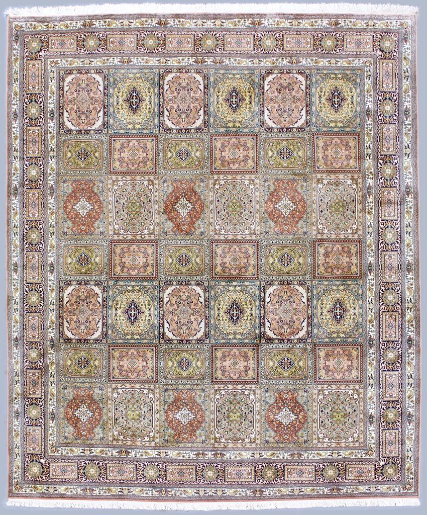 Kashmir Panel Pure Silk Rug (Ref 3862) 318x248cm