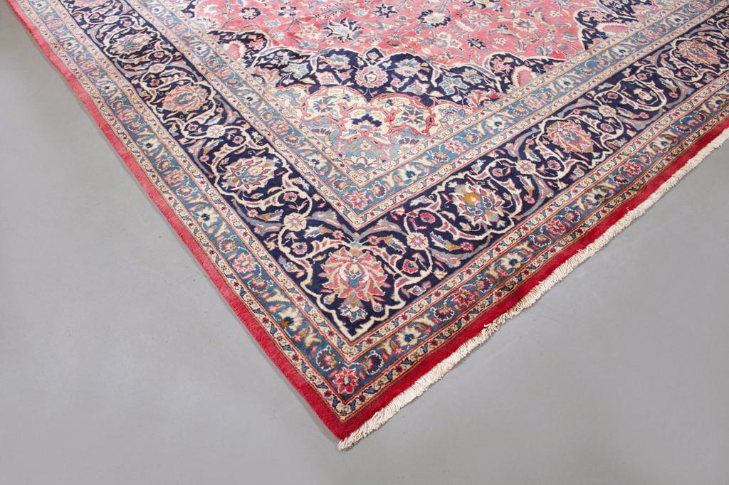 Kashan Soft Pink Vintage Persian Rug (Ref 1350) 363x246cm