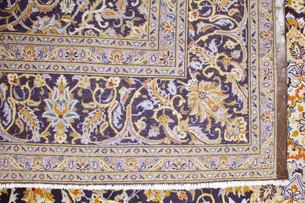 Kashan Blue Vintage Persian Rug (Ref 19) 375x265cm