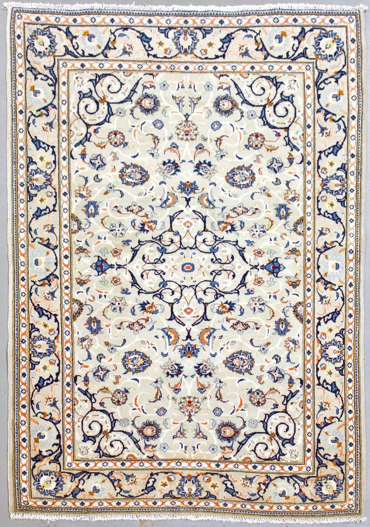 Pistachio Kashan Vintage Persian Rug (Ref 224) 170x110cm
