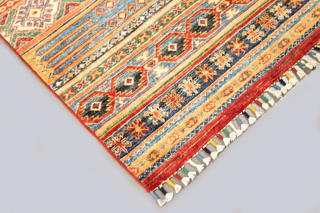 Kazak Farahan Fine Veggie Dye Runner (Ref 1826) 386x80cm