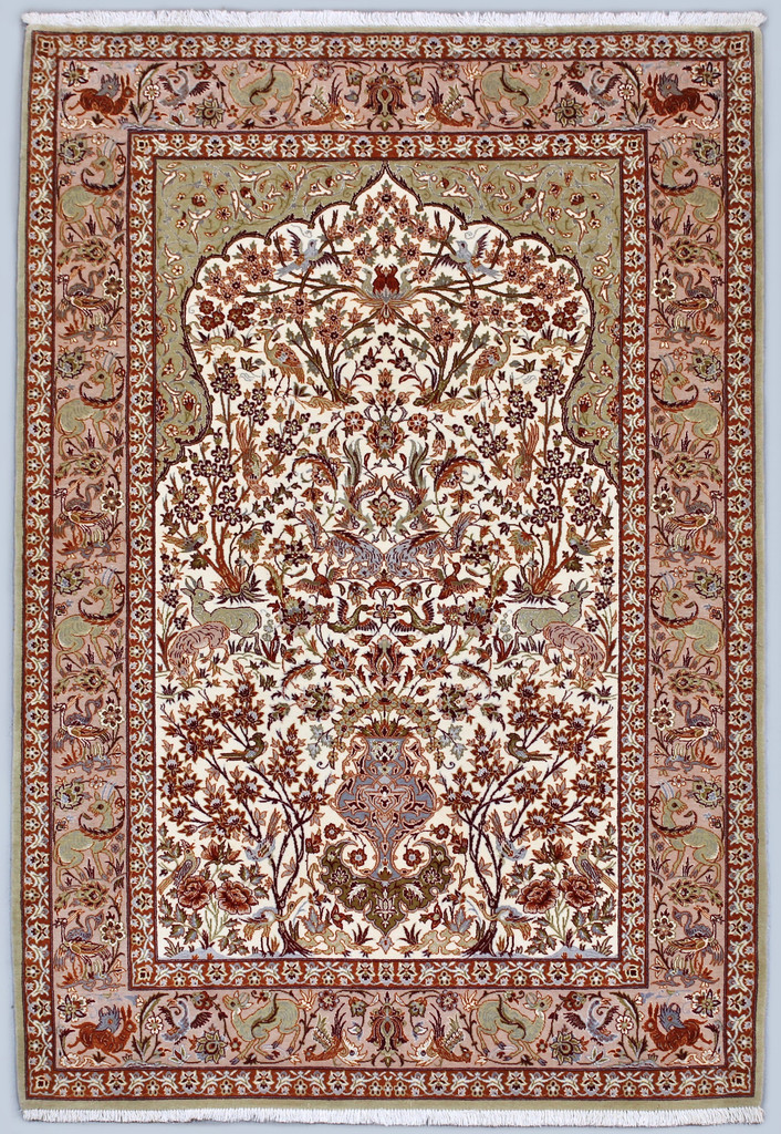 Isfahan Tree of Life Fine Persian Rug (Ref 73) 170x110cm
