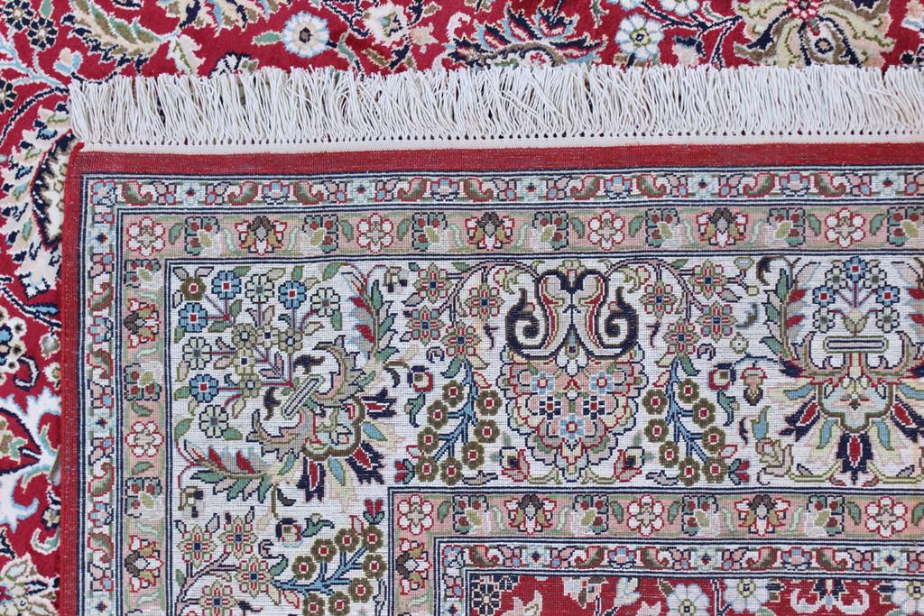 Kashmir Fuscia Red Pure Silk Rug (Ref 89) 275x185cm