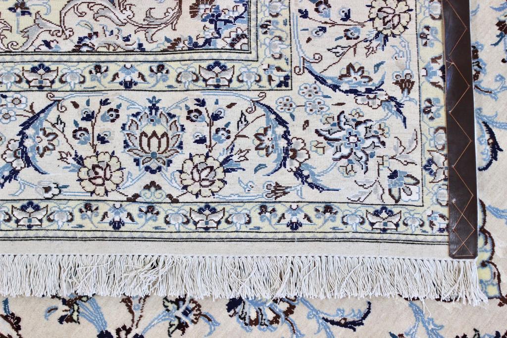 Nain Fine Wool & Silk Inlay 9la Persian Rug (Ref 11) 285x200cm