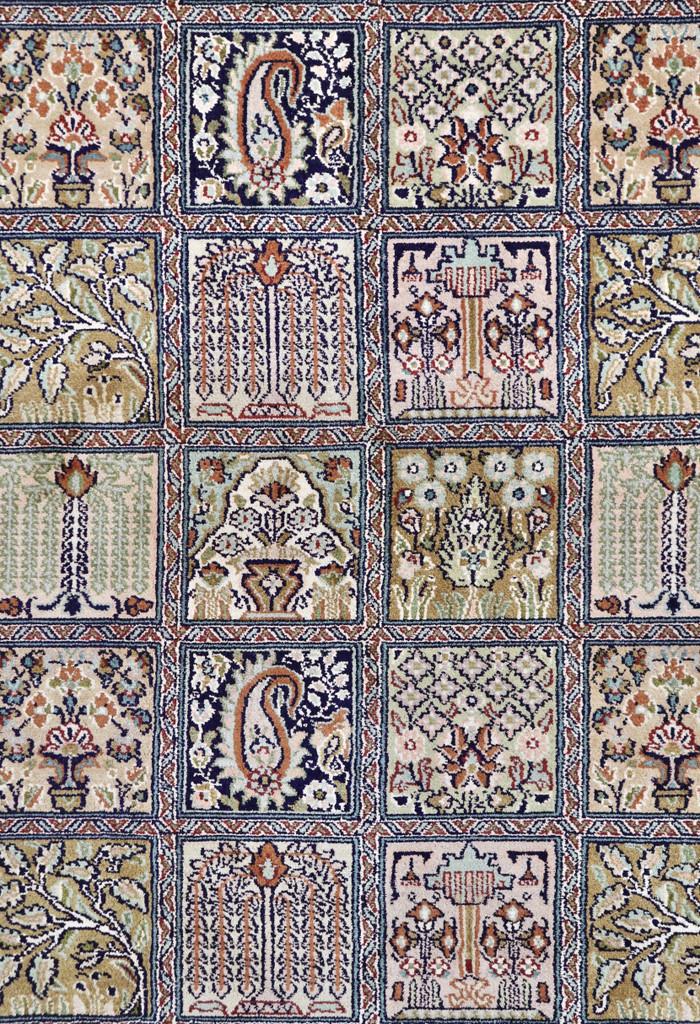 Kashmir Garden of Paradise Pure Silk Rug (Ref 89) 275x185cm