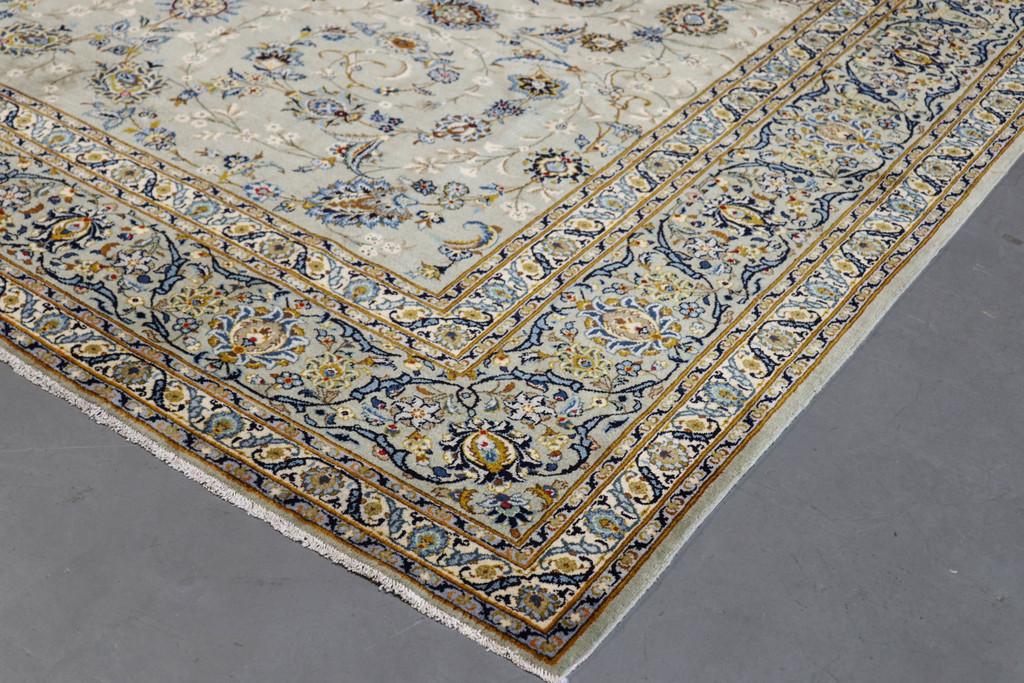 Kashan Fine Pistachio Persian Rug (Ref 5) 410x315cm
