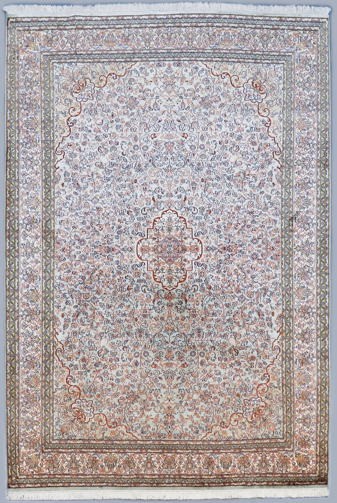 Kashmir Pure Silk Mint Green Rug (Ref 859945) 247x169cm