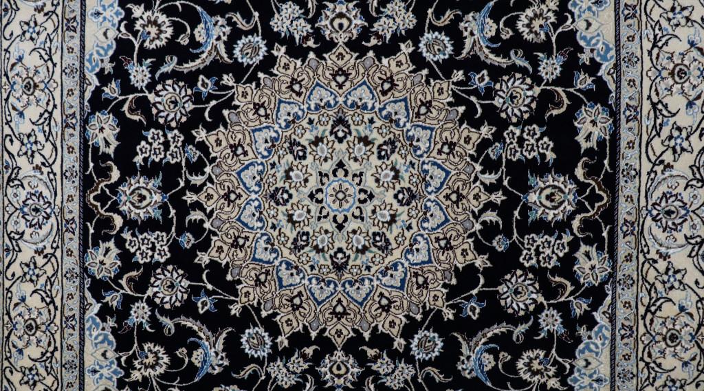 Nain Fine Wool & Silk Inlay 9la Persian Rug (Ref 7) 310x200cm