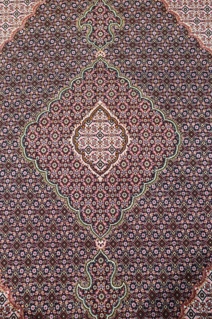 Mahi Tabriz 40 Raj Black Vintage Persian Rug (Ref 139) 293x205cm