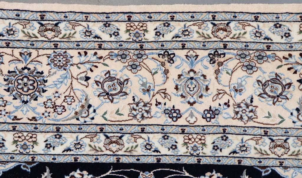 Nain Fine 6la Navy Blue Persian Rug (Ref 82) 305x204cm