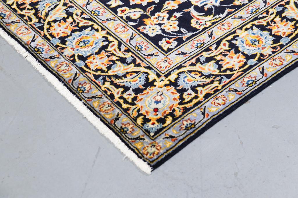 Kashan Navy Blue All-Over Vintage Persian Rug (Ref 338) 220x135cm