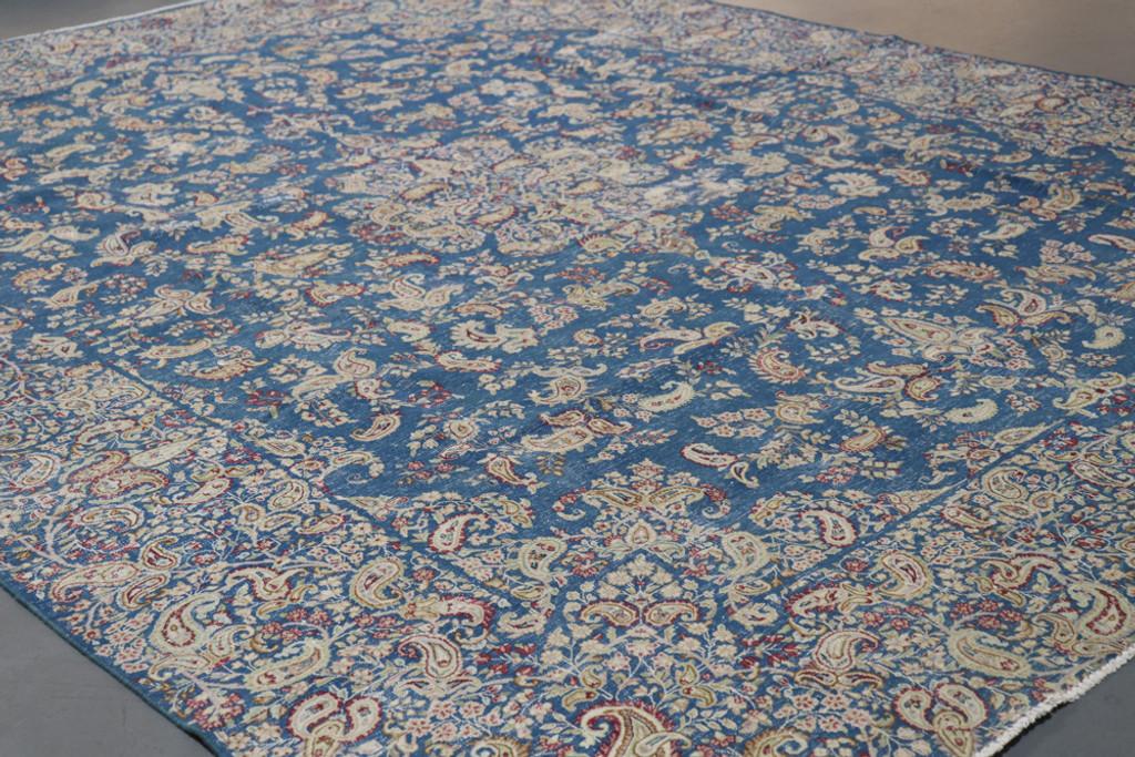 Kerman Vintage Zero Pile Persian Rug (Ref 65) 367x288cm