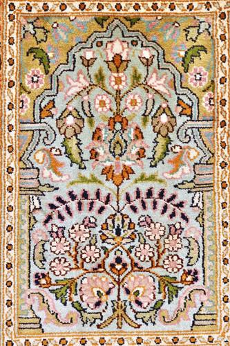 Kashmir Pure Silk Rug (Ref 065397) 90x61cm