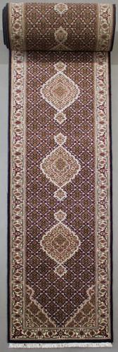 Mahi Tabriz Black Jaipur Long Runner (Ref 960) 988x82cm