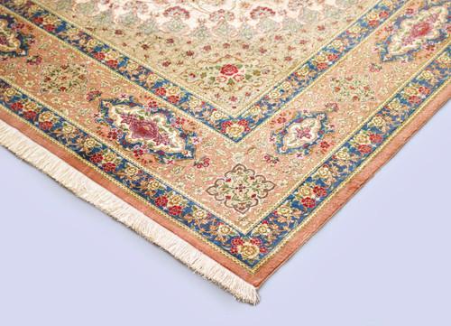 Pure Silk Qum Persian Rug (Ref 2) 298x198cm