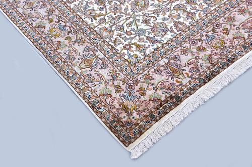 Kashmir Open-Field Pure Silk Rug (Ref 85944) 252x169cm
