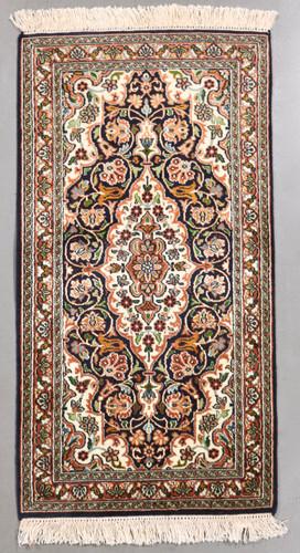 Kashmir Pure Silk Rug (Ref 0654) 93x48cm