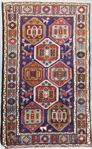 Pictorial Hamadan Vintage Persian Rug (Ref 40694) 207x130cm