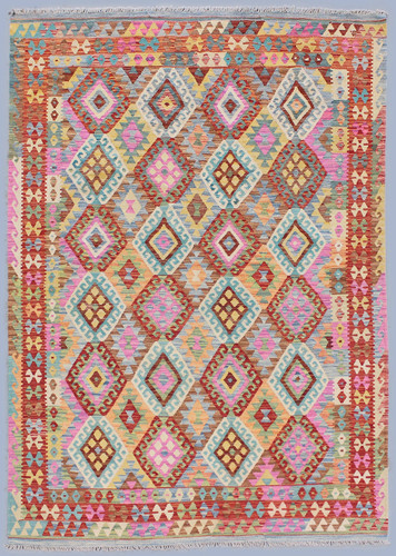Kyber Vibrant Veggie Dye Kilim Rug (Ref 302) 296x204cm