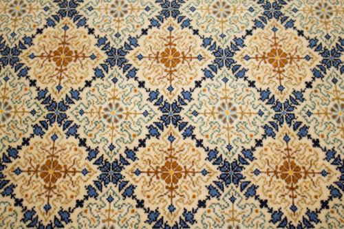 Kashan Fine Vintage Persian Rug (Ref 22) 213x137cm