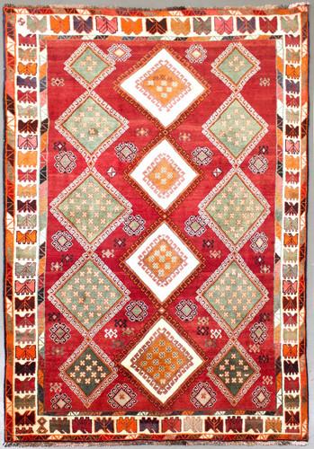Qashqai Fine Vintage Persian Rug (Ref 57) 252x164cm