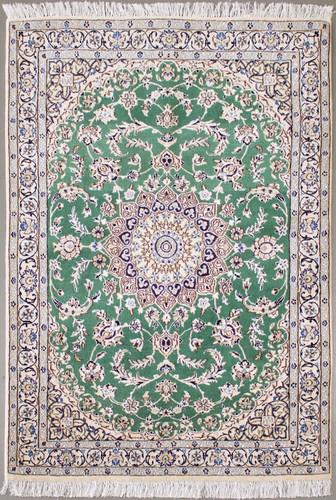 Nain Mint Green Persian Rug (Ref 163) 182x118cm