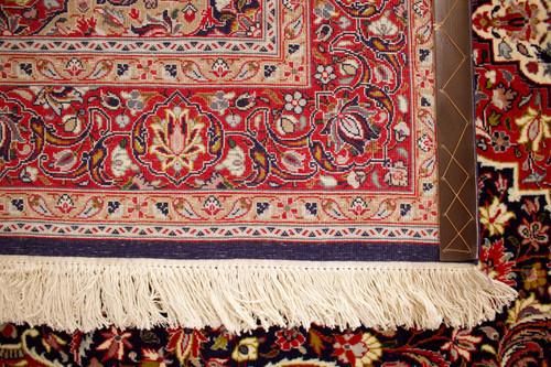 Qum Fine Blue Persian Rug (Ref 1654) 207x133cm