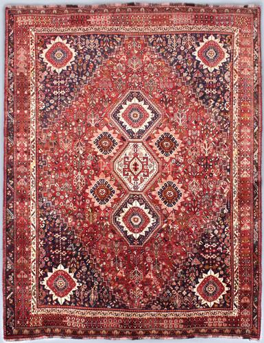 Shiraz Qashqai Fine Vintage Persian Rug (Ref 76) 304x220cm