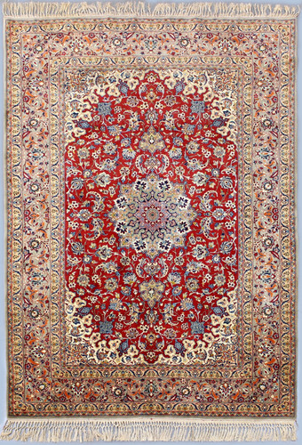 Isfahan Fine Vintage Persian Rug (Ref 77) 235x154cm