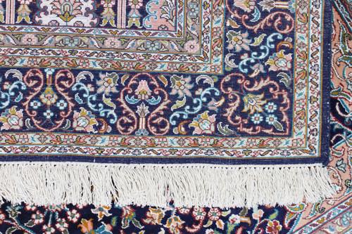 Kashmir Blue Pure Silk Rug (Ref 2408) 157x95cm