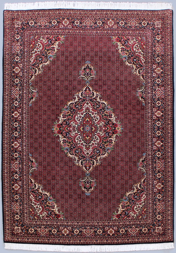 Bidjar Fine Wool & Silk Inlay Persian Rug (Ref 1735) 306x206cm