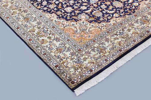 Kashmir Pure Silk Blue Rug (Ref 95940) 242x172cm