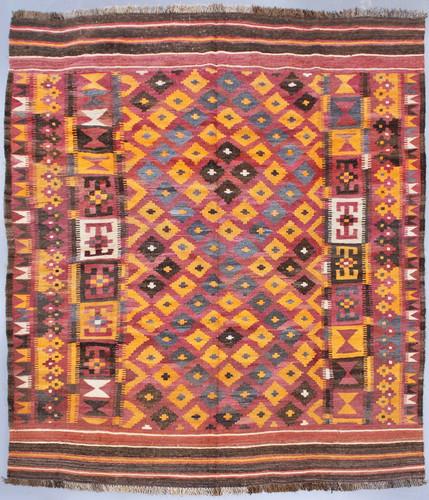 Kyber Mori Vintage Tribal Kilim (Ref 43) 276x205cm