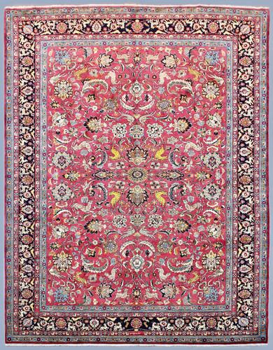 Semnam Vintage Pink Persian Rug (Ref 64) 415x305cm